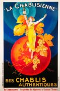 Vintage Poster La Chablisienne Parisian Cafe Wine Advertisement Art Picture